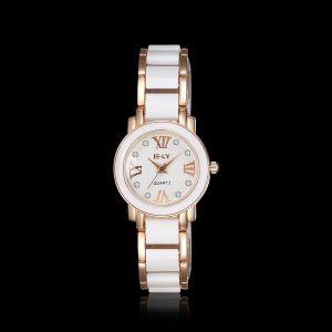 Zegarek Elegant cute adorable fantastic good bonne dobriy horoshiy White weiss Uhr watch blanche montre beliye chasy godinnik belle gold or